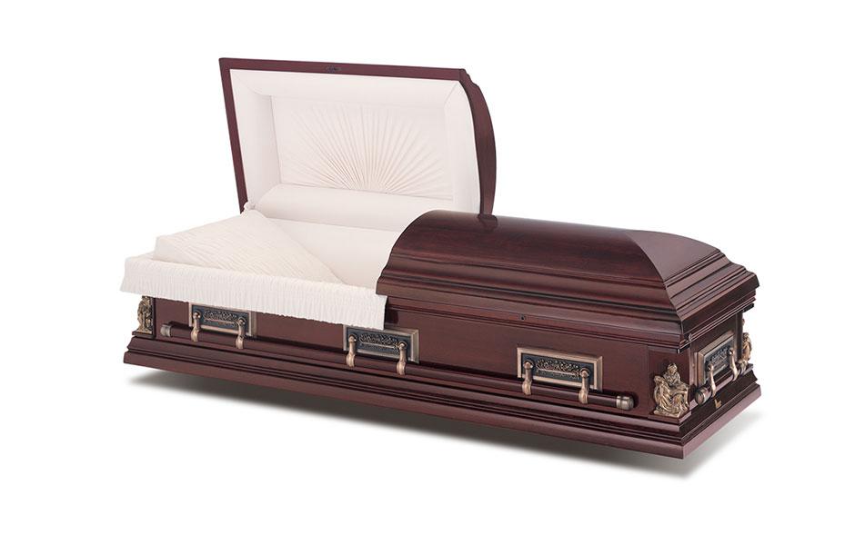 funeral casket sacrament