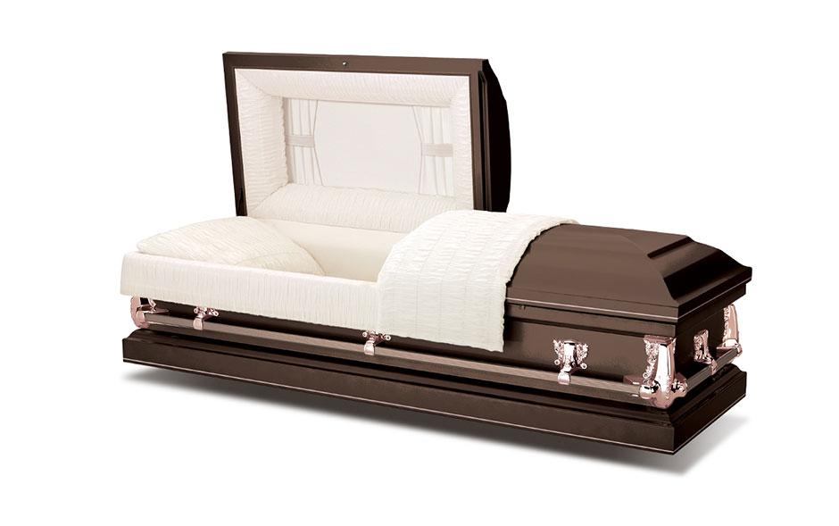 funeral casket spectra brown